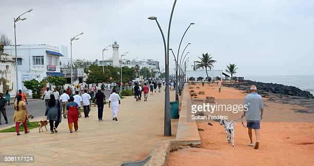 Promenade Beach in Pondicherry