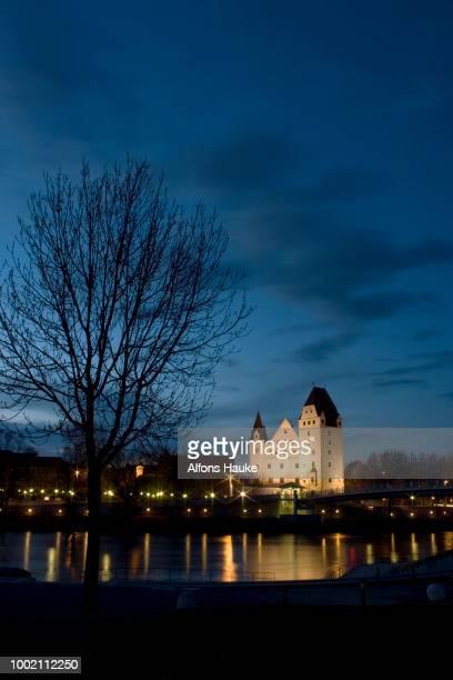 promenade by night, ingolstadt, bavaria, germany - インゴルシュタット ストックフォトと画像