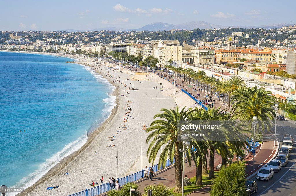Promenade d'Anglais, Nice, Cote d'Azur, France : Stock Photo
