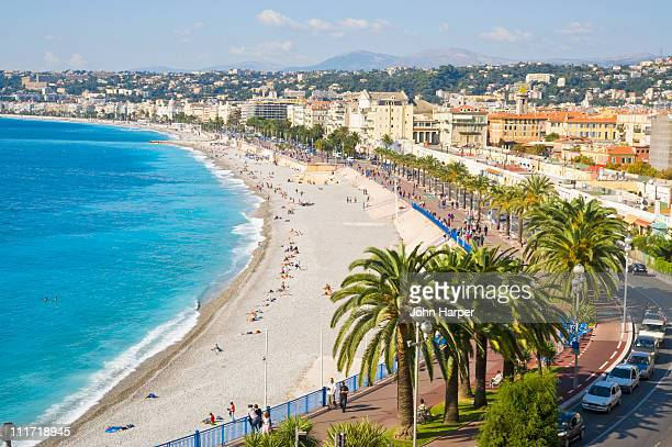 promenade d'anglais, nice, cote d'azur, france - nice stock photos and pictures