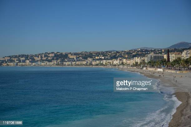 promenade des anglais, nice, france - nice france stock pictures, royalty-free photos & images