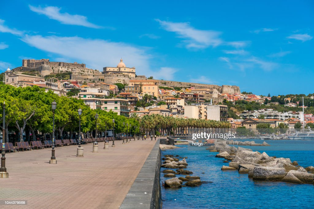 Promenade In Milazzo Overlooking The Castle And The Old ...