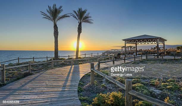 Promenade of El Toyo, Almeria, Andalusia, Spain