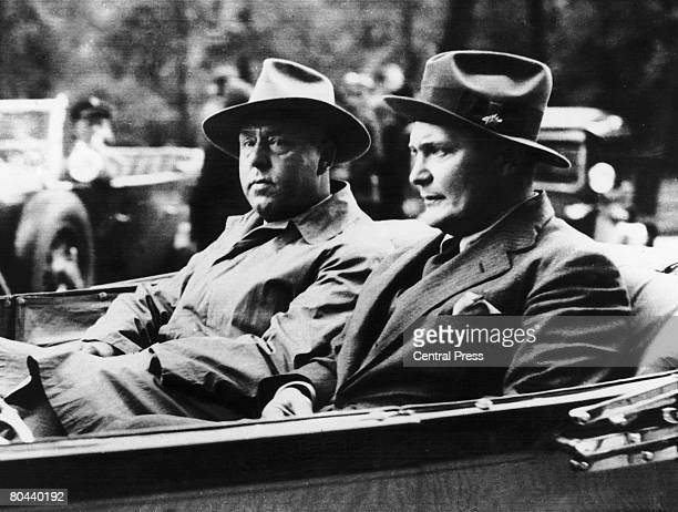 Prominent German members of the Nazi Party Gregor Strasser and Hermann Goering 1932
