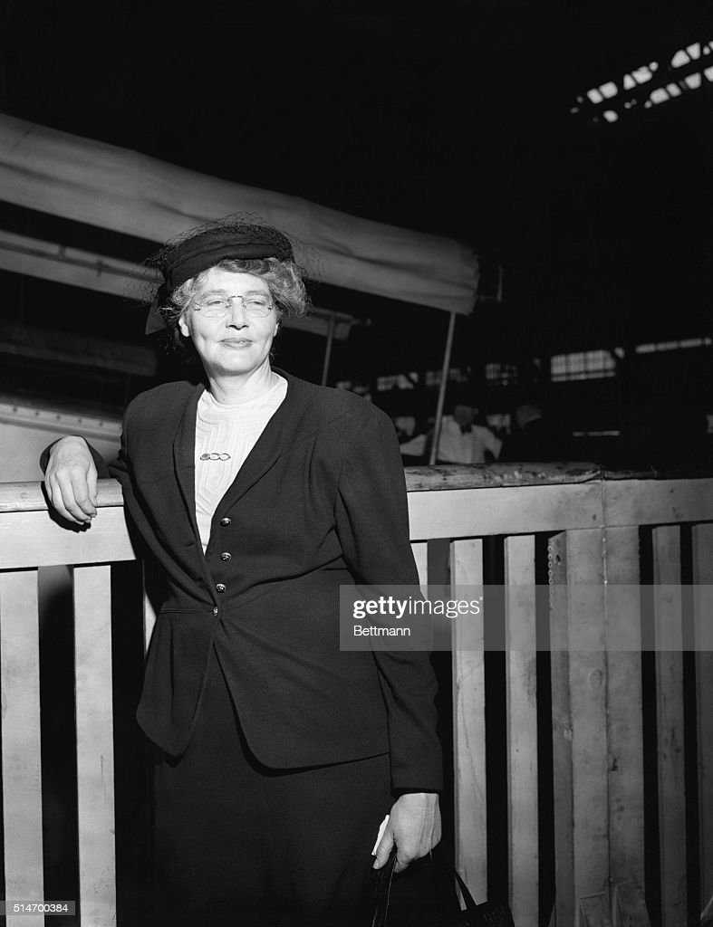 Dr. Helen B. Taussig Arrives in New York : News Photo