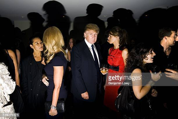 Prominent public figures such as Donald Trump attend the afterparty at the MercedesBenz Spring Fashion Week on September 10 2008 in New York City USA