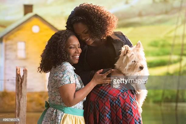 LIVE Promo Shoot Episodic Pictured Stephanie Mills as Auntie Em Shanice Williams as Dorothy