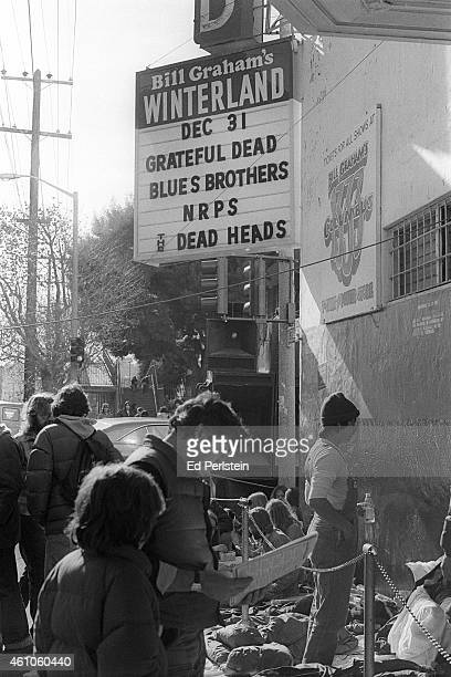 Promoter Bill Graham is seen outside Winterland prior to the Grateful Dead performing on December 31 1978 in San Francisco California