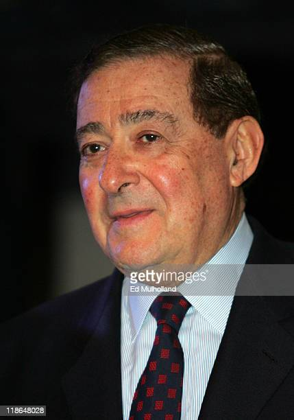 Promoter Bob Arum at a press conference at The Copacabana announcing the June 25 2005 superfight between Arturo Gatti and Floyd Mayweather which will...