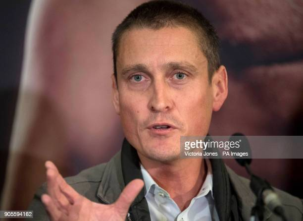 Promoter David Higgins during the press conference at the Dorchester Hotel London PRESS ASSOCIATION Photo Picture date Tuesday January 16 2018 See PA...