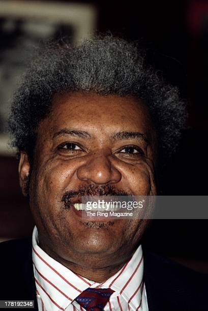 Promoter Don King look on during a press conference