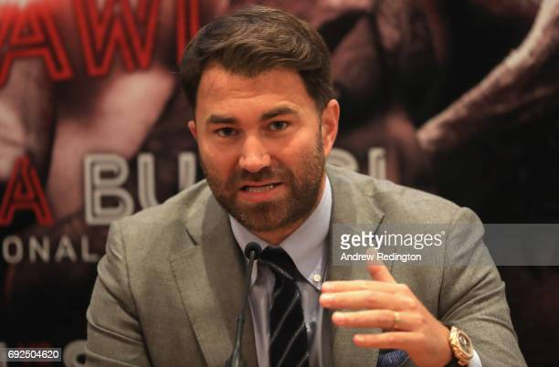 Promoter Eddie Hearn is pictured during the Frank Buglioni and Ricky Summers Press Conference on June 5 2017 in London England