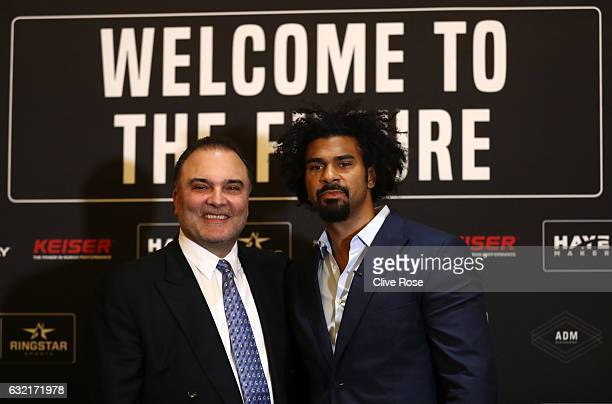Promoter Richard Schaefer attends a press conference with David Haye at Park Plaza Hotel London Riverbank on January 20 2017 in London England