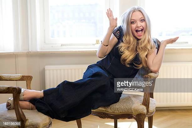 Promotion Of Movie 'Mamma Mia' L'équipe du film 'Mamma Mia ' photographié en exclusivité pour Paris Match à Stockholm la ville d'Abba Amanda SEYFRIED...