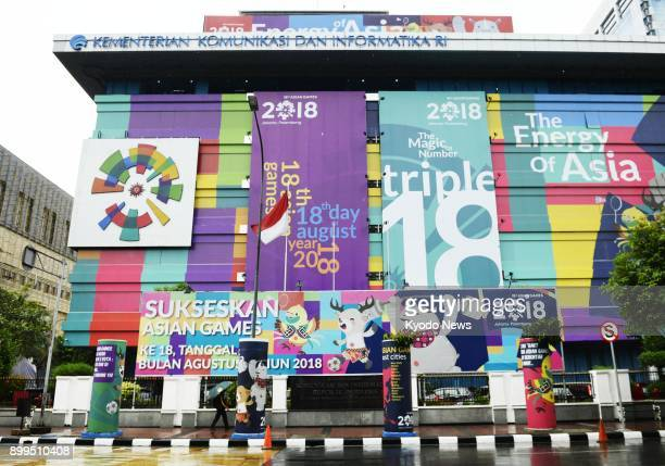 Promotional banners for the 2018 Asian Games in Indonesia are seen in the center of Jakarta on Nov 27 2017 ==Kyodo