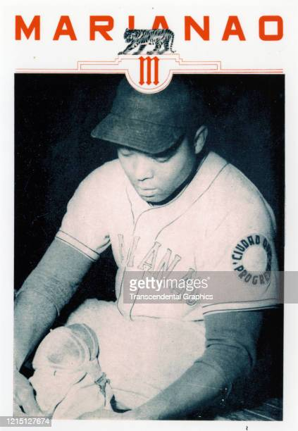 Promotional flyer features a portrait of baseball player Quincy Trouppe, of the Cuban Leaague's Habana team, Havana, Cuba, during the 1949-1950...