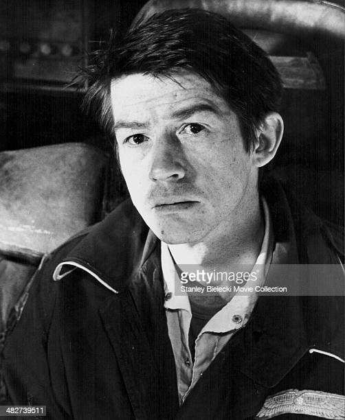 Promotional headshot of actor John Hurt, as he appears in the movie 'Alien', 1979.