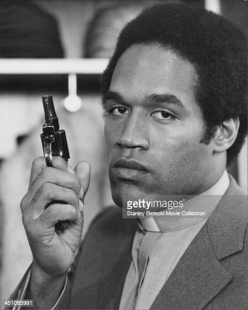 Promotional headshot of actor O J Simpson as he appears in the movie 'The Cassandra Crossing' 1976