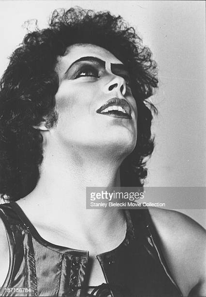 Promotional headshot of actor Tim Curry as he appears in the movie 'The Rocky Horror Picture Show' 1975