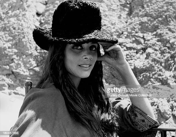 Promotional headshot of actress Leigh Taylor Young, as she appears in the movie 'The Horsemen', 1971.