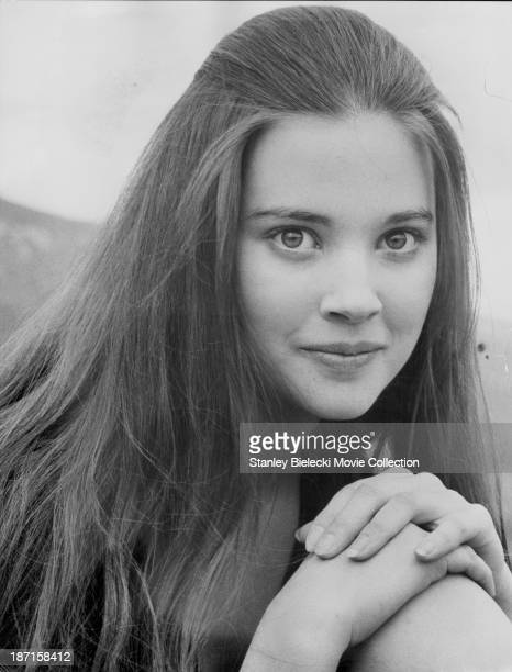 Promotional headshot of actress Lynne Frederick as she appears in the film 'No Blade of Grass' 1970