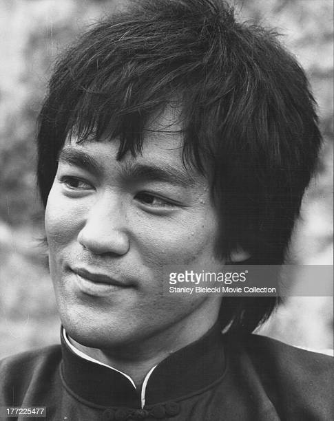 Promotional headshot of the actor Bruce Lee as he appears in the movie 'Enter the Dragon' 1973