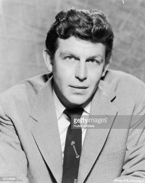 Promotional headshot portrait of actor Andy Griffith for director Norman Taurog's film 'Onionhead'