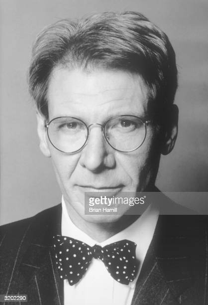 Promotional headshot portrait of American actor Harrison Ford for director Sydney Pollack's film remake of 'Sabrina' RESTRICTED PLEASE INQUIRE