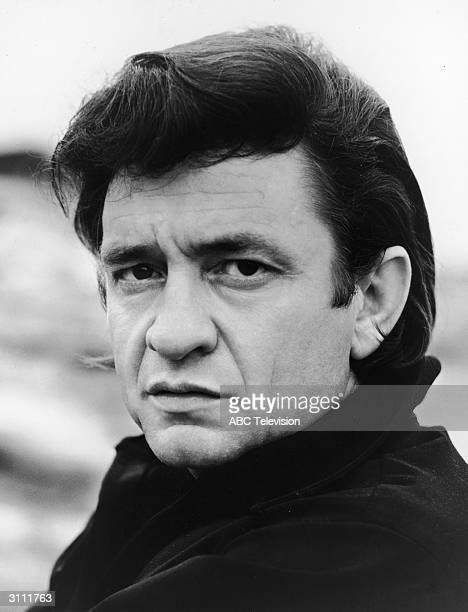 Promotional headshot portrait of American country singer and songwriter Johnny Cash for his television variety show 'The Johnny Cash Show' circa 1969