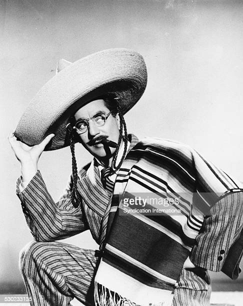 Promotional portrait of actor Groucho Marx as he appears in the movie 'Copacabana' circa 1947