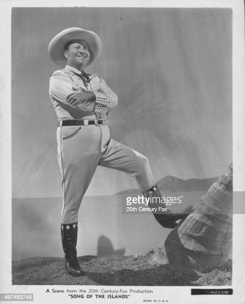 Promotional portrait of actor Jack Oakie as he appears in the movie 'Song of the Islands' September 7th 1942
