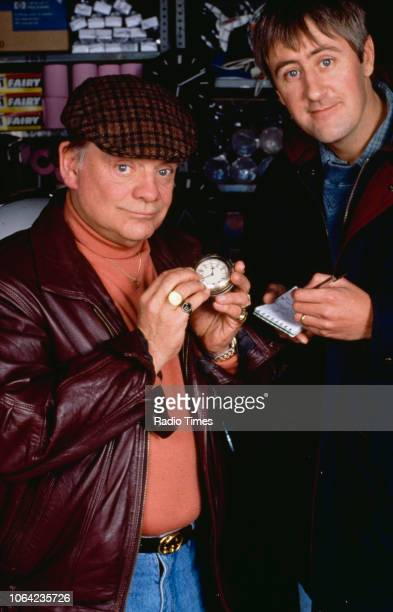 Promotional portrait of actors David Jason and Nicholas Lyndhurst pictured during the filming of episode 'Time on Our Hands' of the BBC Television...