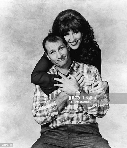 Promotional portrait of actors Ed O'Neill and Katey Sagal for the television series 'Married with Children' 1993