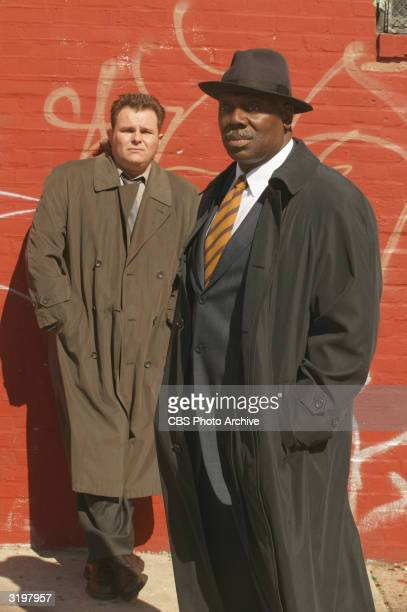 Promotional portrait of actors Jeremy Ratchford and Thom Barry for the TV series 'Cold Case' 2004