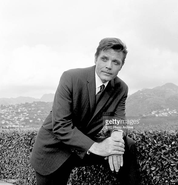 Promotional portrait of American actor Jack Lord in costume as Steve McGarrett from the television police crime drama 'Hawaii FiveO' November 17 1968