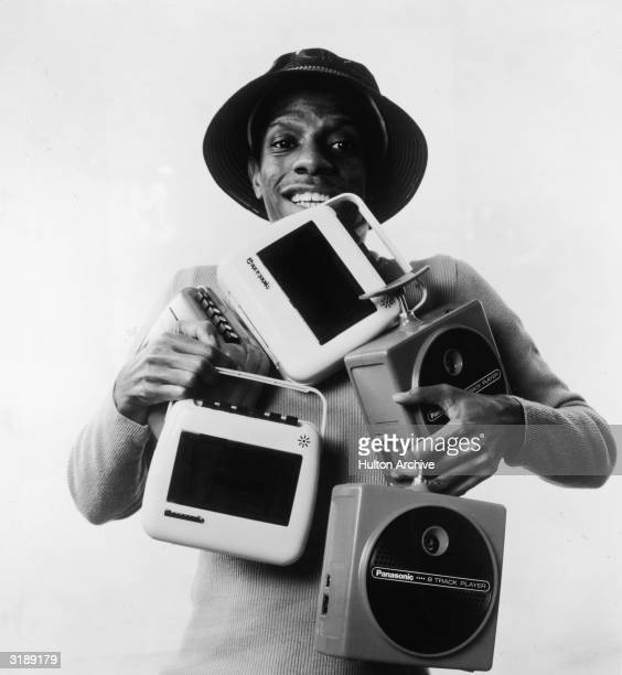Promotional portrait of American actor Jimmie Walker as the character 'J. J.' in the television series 'Good Times,' mid 1970s. He poses in a hat...