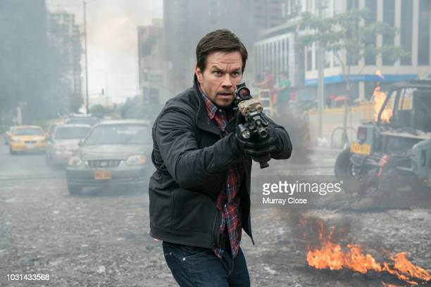 Promotional portrait of American actor Mark Wahlberg in a scene from the film 'Mile 22' Bogota Colombia January 2018
