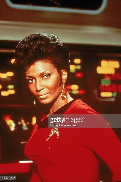 Promotional portrait of American actor Nichelle Nichols as Lt. Nyota Uhura for the television show, 'Star Trek,' c. 1968.