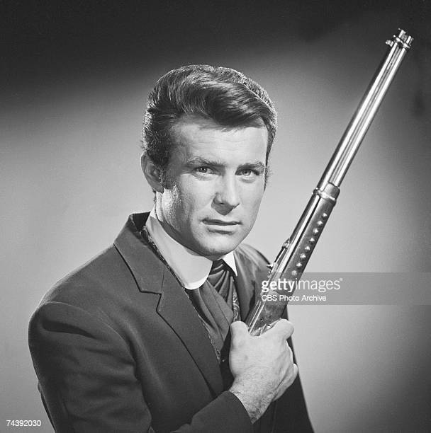 Promotional portrait of American actor Robert Conrad in costume as James T West from the television series 'The Wild Wild West' February 28 1967
