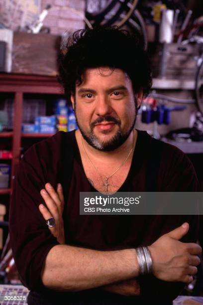 Promotional portrait of American actor Robert Pastorelli from the television series 'Double Rush' 1995