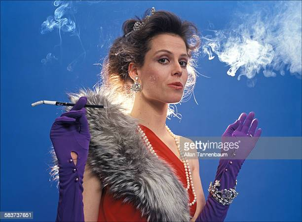 Promotional portrait of American actress Sigourney Weaver in play 'Das Lusitania Songspiel' New York New York March 23 1981