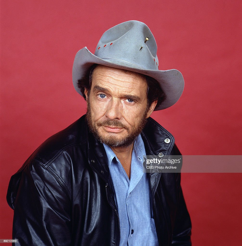Promotional portrait of American country music singer and guitarist Merle Haggard, 1987.