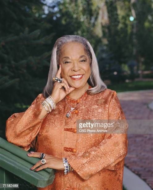 Promotional portrait of American gospel singer and actress Della Reese from the television show 'Touched by an Angel' 2000