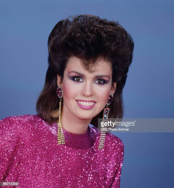 Promotional portrait of American singer and actress Marie Osmond 1986