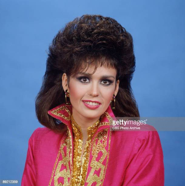 Promotional portrait of American singer and actress Marie Osmond 1987