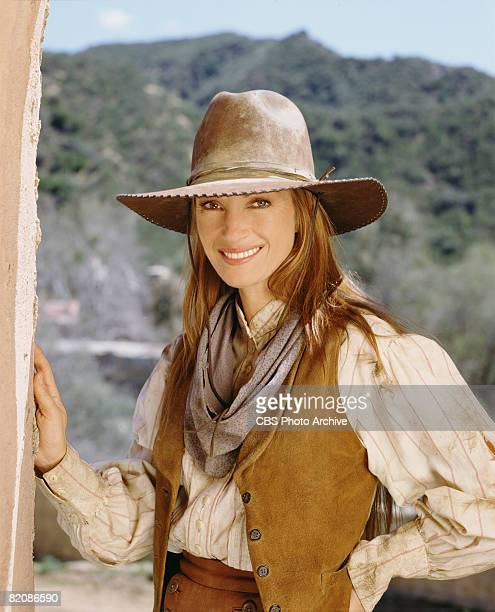 Promotional portrait of British actress Jane Seymour as Dr Michaela 'Mike' Quinn in the madefortv movie 'Dr Quinn Medicine Woman the Movie' 1999