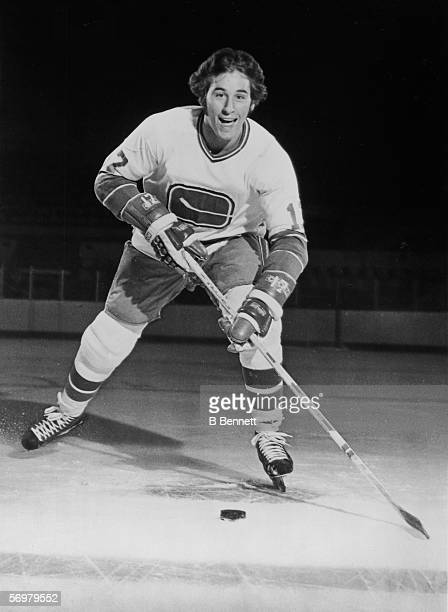 Promotional portrait of Canadian hockey player Ron Sedlbauer of the Vancouver Canucks 1976