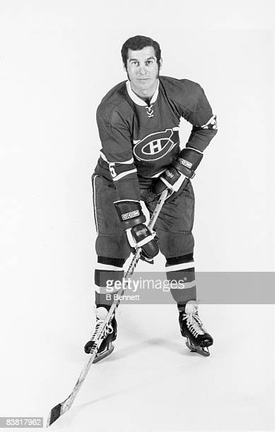 Promotional portrait of Canadian ice hockey player Claude Larose of the Montreal Canadiens mid 1960s or mid 1970s