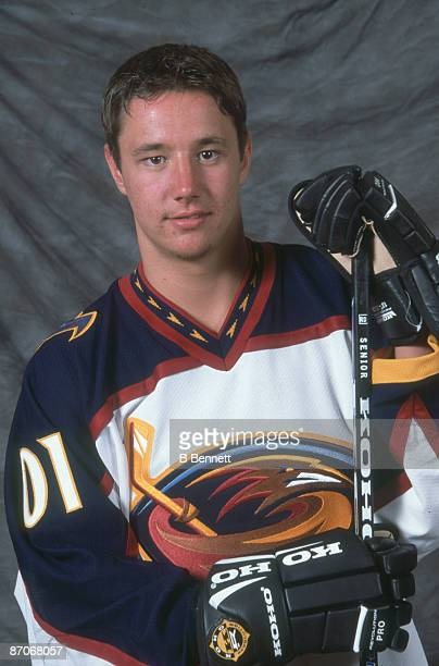 Promotional portrait of Russian ice hockey player Ilya Kovalchuk of the Atlanta Thrashers early 2000s
