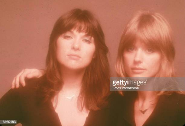 Promotional portrait of sisters Ann and Nancy Wilson of the American rock band Heart, 1970s.